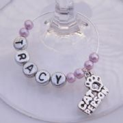 Cat Person Personalised Wine Glass Charm